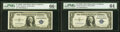Small Size:Silver Certificates, Fr. 1617 $1 1935G With Motto Silver Certificates. Two Exam...
