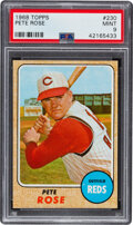 Baseball Cards:Singles (1960-1969), 1968 Topps Pete Rose #230 PSA Mint 9. Offered is a...