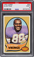 Football Cards:Singles (1970-Now), 1970 Topps Alan Page #59 PSA Mint 9. Offered is a ...