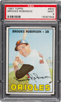 Baseball Cards:Singles (1960-1969), 1967 Topps Brooks Robinson #600 PSA Mint 9 - Only Two High...