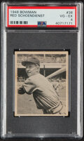 Baseball Cards:Singles (1940-1949), 1948 Bowman Red Schoendienst #38 PSA VG-EX 4. Whil...