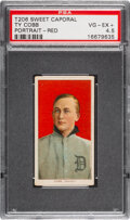 Baseball Cards:Singles (Pre-1930), 1909-11 T206 Sweet Caporal 350/30 Ty Cobb (Portrait-Red) PSA VG-EX+ 4.5....