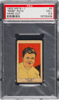 Baseball Cards:Singles (Pre-1930), 1923 W515-1 Babe Ruth #3 PSA VG+ 3.5. Issued the ...