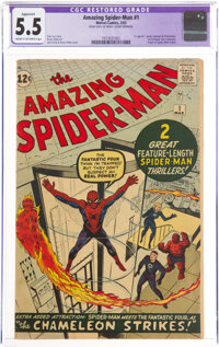The Amazing Spider-Man #1 (Marvel, 1963) CGC Apparent FN- 5.5 Cream to off-white pages