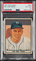 Baseball Cards:Singles (1940-1949), 1941 Play Ball Pee Wee Reese #54 PSA VG-EX 4. The ...