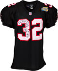 Football Collectibles:Uniforms, 1998 Jamal Anderson Game Worn & Signed Atlanta Falcons Jersey with Player Letter. ...