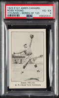 Baseball Cards:Singles (Pre-1930), 1921 E121 Series of 120 American Caramel Ross Young (Youngs) PSA VG-EX 4. ...