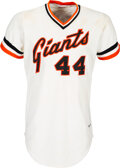 Baseball Collectibles:Uniforms, 1980 Willie McCovey Game Worn San Francisco Giants Jersey ...