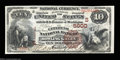 National Bank Notes:Kentucky, Bowling Green, KY - $10 1882 Brown Back Fr. 490 The ...