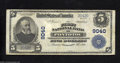 National Bank Notes:Mississippi, Pontotoc, MS - $5 1902 Plain Back Fr. 600 First NB of ...