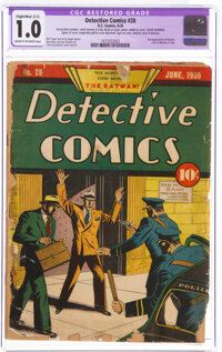 Detective Comics #28 Married (DC, 1939) CGC Apparent FR 1.0 Slight/Moderate (C-2) Cream to off-white pages