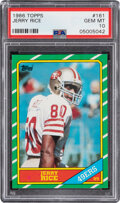 Football Cards:Singles (1970-Now), 1986 Topps Jerry Rice Rookie #161 PSA Gem Mint 10....