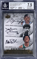 Basketball Cards:Singles (1980-Now), 2012 Upper Deck Exquisite Collection Michael Jordan, Magic...