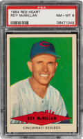 Baseball Cards:Singles (1950-1959), 1954 Red Heart Roy McMillan PSA NM-MT 8. Offered i...