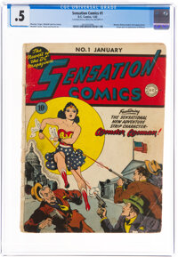 Sensation Comics #1 Incomplete (DC, 1942) CGC PR 0.5 Off-white to white pages