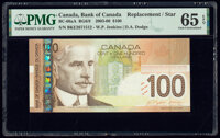 Canada Bank of Canada $100 2003-06 Pick 105c BC-66aA Replacement PMG Gem Uncirculated 65 EPQ