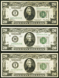 Fr. 2050-G; J $20 1928 Federal Reserve Notes. Very Fine or Better; Fr. 2051-G $20 1928A Federal Reserve Note. V... (Tota...