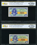 Military Payment Certificates:Series 521, Series 521 5¢ First Printing PCGS Banknote Choice XF 45 PPQ;. Series 521 5¢ Second Printing PCGS Banknote About Unc 55 PPQ... (Total: 3 notes)