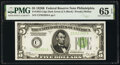Small Size:Federal Reserve Notes, Fr. 1952-C $5 1928B Dark Green Seal Federal Reserve Note. ...