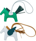 """Luxury Accessories:Accessories, Hermès Set of Two: Rodeo and Le Pegase PM Charms. Z, 2021. Condition: 1. 3.5"""" Width x 3"""" Height x 0.5"""" Depth. ... (Total: 2 Items)"""