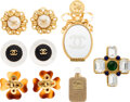 Luxury Accessories:Accessories, Chanel Set of Six: Earrings and Brooches Con...