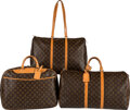 Luxury Accessories:Travel/Trunks, Louis Vuitton Set of Three: Keepall Bandoulière, Deauville Bag, and Flanerie Bag. Condition: 4. See...