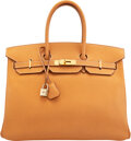 Luxury Accessories:Bags, Hermès 35cm Natural Ardennes Leather Birkin Bag with Gold...
