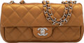 """Luxury Accessories:Bags, Chanel Gold Quilted Calfskin Leather Small Flap Bag with Silver Hardware. Condition: 2. 9"""" Width x 4.5"""" Height x 2.5"""" ..."""