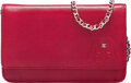 Luxury Accessories:Bags, Chanel Red Calfskin Leather Embossed Wallet on Chain with ...