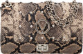 Luxury Accessories:Bags, Valentino Neutral Snake Embossed Leather Alice Bag...