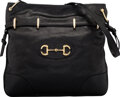 Luxury Accessories:Bags, Gucci Black Leather Drawstring Shoulder Bag ...