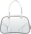 Luxury Accessories:Bags, Prada White Leather Shoulder Bag Condition:...