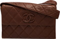 Luxury Accessories:Bags, Chanel Brown Quilted Lambskin Leather Crossbody Bag