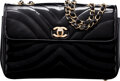 Luxury Accessories:Bags, Chanel Black Quilted Patent Leather Flap Bag with Gold Har...