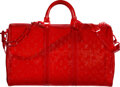 Luxury Accessories:Bags, Louis Vuitton Limited Edition Red Monogram PVC Keepall Ban...