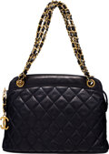 Luxury Accessories:Bags, Chanel Vintage Navy Quilted Calfskin Leather Shoulder Bag ...