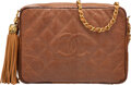 Luxury Accessories:Bags, Chanel Vintage Brown Lizard Camera Bag with Gold Hardware