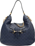 Luxury Accessories:Bags, Gucci Blue Guccissima Leather Medium Emily Shoulder Bag