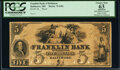 Obsoletes By State:Maryland, Baltimore, MD- Franklin Bank of Baltimore $5 18__ G84 Proof PCGS Apparent Choice New 63, POCs.. ...