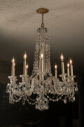 Lighting, A French Baccarat-Style Glass Twelve-Light Chandelier, early 20th century . 39 x 30 inches (99.1 x 76.2 cm). ...