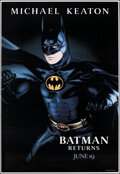 """Movie Posters:Action, Batman Returns (Warner Bros., 1992). Rolled, Very Fine. Bus Shelter (48"""" X 70"""") Advance, Batman Style. Action.. ..."""