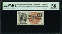 Fr. 1268 15¢ Fourth Issue PMG Choice About Unc 58