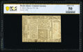 Colonial Notes:Rhode Island, Rhode Island November 6, 1775 10s PCGS Banknote About Unc 50 Details.. ...