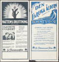 """Movie Posters:Drama, Torch Singer & Other Lot (Paramount, 1933). Folded, Overall: Very Fine-. Swedish Inserts (6) (12.75"""" X 27.5"""" -13.5"""" X 27.5"""")... (Total: 6 Items)"""