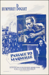 """Passage to Marseille (Dominant Pictures, R-1956). Fine/Very Fine on Linen. One Sheet (27"""" X 41""""). War"""