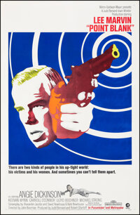 """Point Blank (MGM, 1967). Very Fine on Linen. One Sheet (27"""" X 41""""). Crime"""