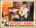 """Movie Posters:Horror, Before I Hang (Columbia, 1940). Fine/Very Fine. Lobby Card (11"""" X 14""""). Horror.. ..."""