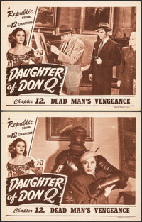 """Daughter of Don Q (Republic, 1946). Fine/Very Fine. Lobby Cards (2) (11"""" X 14"""") Chapter 12 -- """"Dead Man's..."""