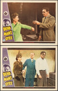 """Movie Posters:Horror, Dead Man's Eyes (Universal, 1944). Very Fine+. Lobby Cards (2) (11"""" X 14""""). Horror.. ... (Total: 2 Items)"""