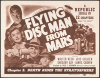"""Flying Disc Man from Mars (Republic, 1950). Very Fine-. Title Lobby Card (11"""" X 14"""") Chapter 3 -- """"Death..."""